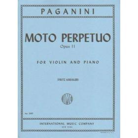 Paganini . moto perpetuo opus 2 for violin and piano