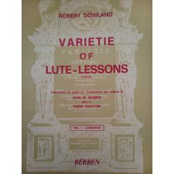 Dowland - varietie of lute lesson volume 1