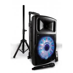 MY DJ PACK FUZZY 12 - Box a led amplificato 120W