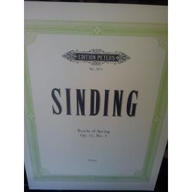 Sinding – Rustle of spring op 32 no.3 piano