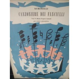 Schinelli – Canzoniere del fanciulli vol V