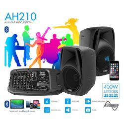 "SPEAKER SET LANEY AH210 AUDIOHUB 2X10"" MIXER MP3 BLUETOOTH"