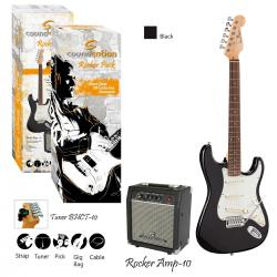 GUITAR PACK ELETTRICO SOUNDSATION ROCKER PACK BK