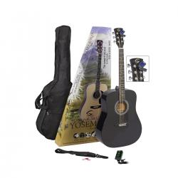 GUITAR PACK ACUSTICO SOUNDSATION YOSEMITE-GP-BK