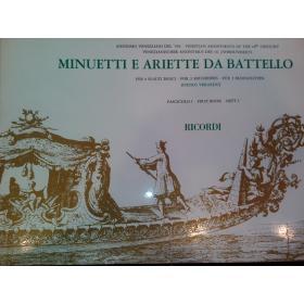Anonimo veneziano del 700 – Minuetti e ariette da battello fascicolo 1