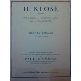 USATO: H.Klose – Trente ètudes
