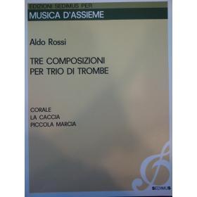 Aldo Rossi – tre composizioni per trio di trombe
