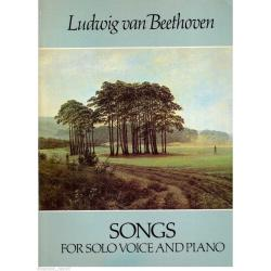 Beethoven - songs for solo voice and piano