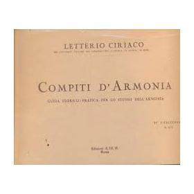 Ciriaco - Compiti d'armonia 3 fascicolo