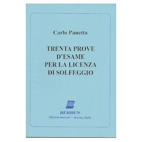 Panetta - 30 prove d'esame per la licenza di solfeggio