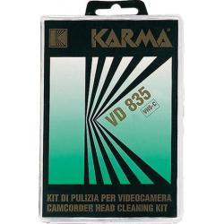 KARMA VD 835 - Kit pulizia testine Video VHS-C