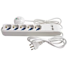 CC 9576 - Multipresa con USB e tasto a pedale