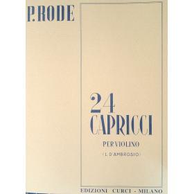 Rode - 24 capricci(revisione D'Ambrosio)