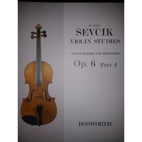 Otakar Sevcík - Violin Studies (Op. 6 Part 4)