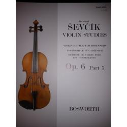 Sevcik violin studies op 6 part 7