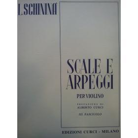 Luigi Schininà - Scale e Arpeggi per Violino (Vol. 3).