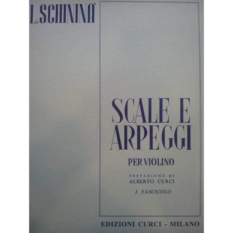 Schinina - Scale e arpeggi per violino 1