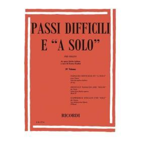 AAVV - passi difficili e a solo 4 volume
