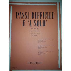 AAVV - Passi difficili e a solo per violino