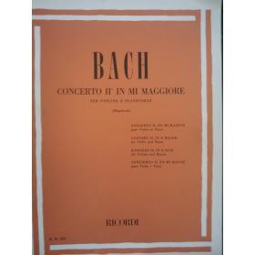 Bach - concerto 2 in mi maggiore per violino e pianoforte