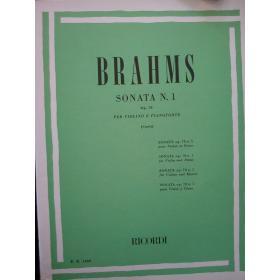 Brahms - sonata n.1 op 78 violino e pianoforte