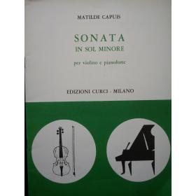 Capuis - sonata in sol minore per violino e pianoforte