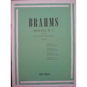 Brahms - sonata n.3 op 108 per violino e pianoforte