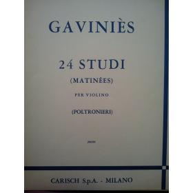 Pierre Gaviniès - 24 Studi per Violino (Matinées)