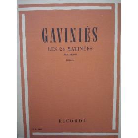 Pierre Gaviniès - Les 24 Matinées per Violino