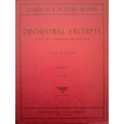 Gingold - Orchestral excerpts for violin vol 1
