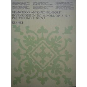 Bonporti - invenzione in do minore op.x n.6 per violino e basso