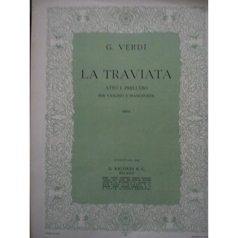 Verdi - la traviata atto 1 preludio per violino e pianoforte