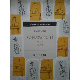 Paganini - sonata n 12 per violino e pianoforte
