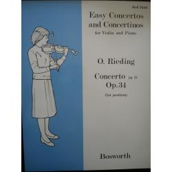 Easy concertos and concertinos violin and piano o.rieding