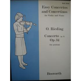 Easy concertos and concertinos violin and piano o.rieding