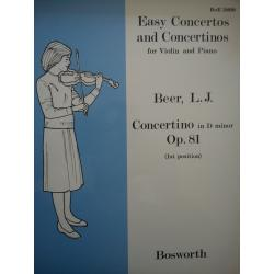 Easy concertos and concertinos for violin and piano op 81