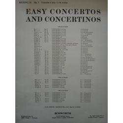 Easy concertos and concertinos op 7 for violin and piano