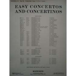 Easy concertos and concertinos for violin and piano op 24