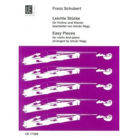 Schubert - universal violin piano:easy pieces for violin and piano