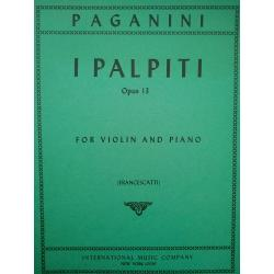 Paganini - i palpiti op 13 for violin and piano