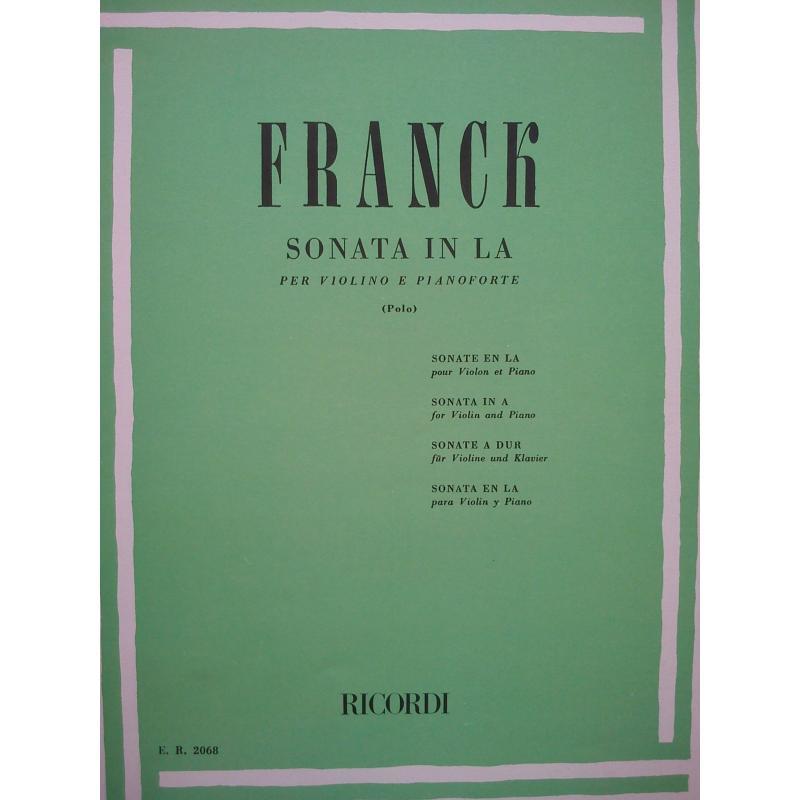 Franck - sonata in la per violino e pianoforte
