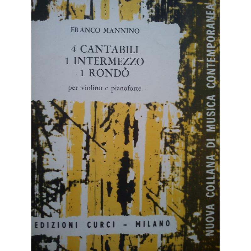 Mannino 4 cantabili 1 intermezzo un rondo