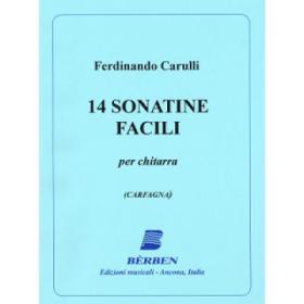 Carulli - 14 sonatine facili per chitarra