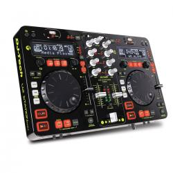 DOPPIO MEDIA PLAYER + MIXER DJTECH U2 STATION MKII
