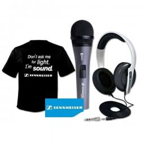 Sennheiser Starter Pack Pro - microfono E822S + cuffiaHD203 + T-SHIRT