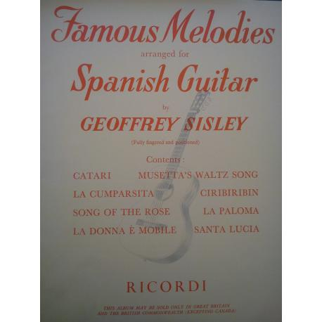 Sisley - Famous melodies arranged for Spanisch guitar