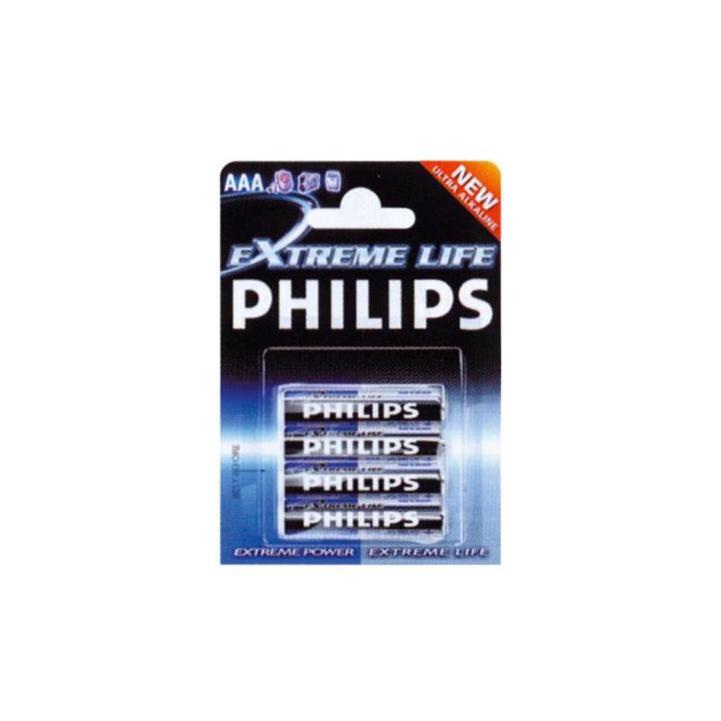 EXTREMELIFE PLUS MINST. BLX4 PHILIPS LR03E4B/10 ( sostituisce LR03-P4/12B )