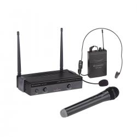 RADIOMICROFONO UHF SOUNDSATION WF-U24HP 4 CANALI 1 TX A MANO + 1 POCKET 863-865MHz