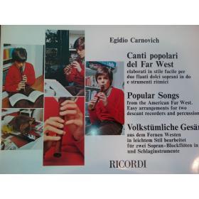 Egidio Carnovich – Canti popolari del far west