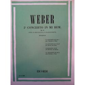 Weber – 2 concerto in mi bem op 74